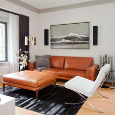 Transitional Living Room by R. Martinez Design and Contracting