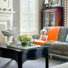 Transitional Living Room by Martha O'Hara Interiors
