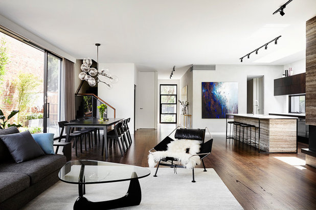 Contemporary Living Room by Robert Harwood Architect