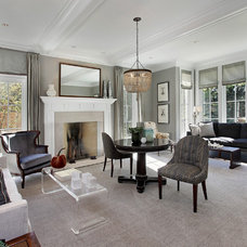 Transitional Living Room by Highgate Builders