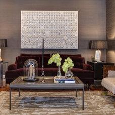 Contemporary Living Room by Handman Associates