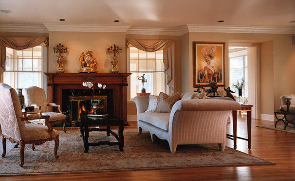 Traditional Living Room by Kaufman Segal Design