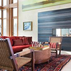 Contemporary Living Room by Larette Design