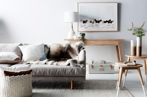 Scandinavian Living Room by Nathan + Jac