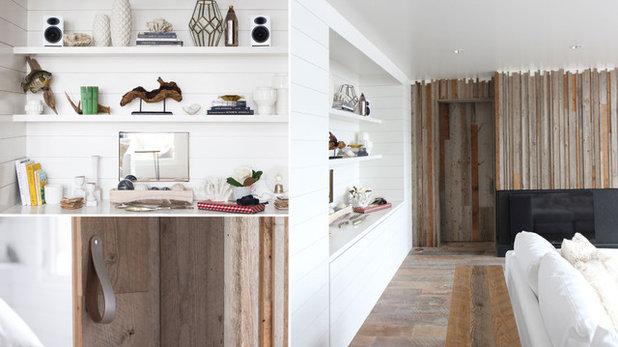 Transitional Living Room by Albertsson Hansen Architecture, Ltd