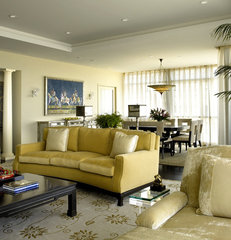 modern living room by Peggy Braswell