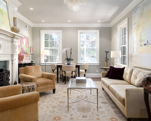 classic living room ideas. Inspiration for a timeless formal living room remodel in DC Metro with gray  walls 15 Best Traditional Living Room Ideas Designs Houzz