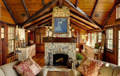 Houzz Tour: Charming, Rustic Lakefront Cabin in Minnesota