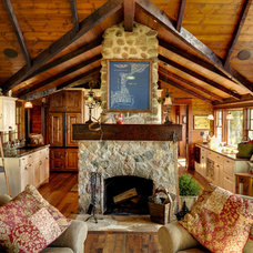 rustic living room by Michelle Fries, BeDe Design, LLC