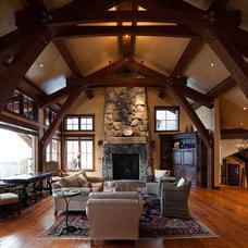 Rustic Living Room by Nor-Cal Floor Design, Inc