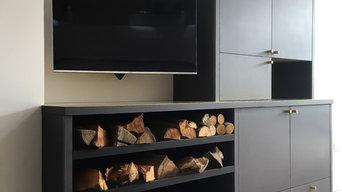Wood Log Cabinet in Valchromat