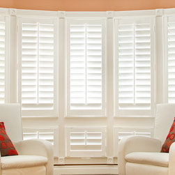 Wood Plantation Shutters - Los Gatos Home - Custom Plantation Shutters with remote control technology by JMK Shutters, a Diamond Certified company