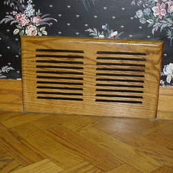 Wood Vents - Ridgefield Wall Vent (Replaces standard Metal Vent)
