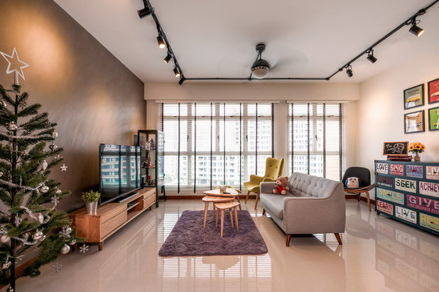 Contemporary Living Room by Zee and Marina Photography