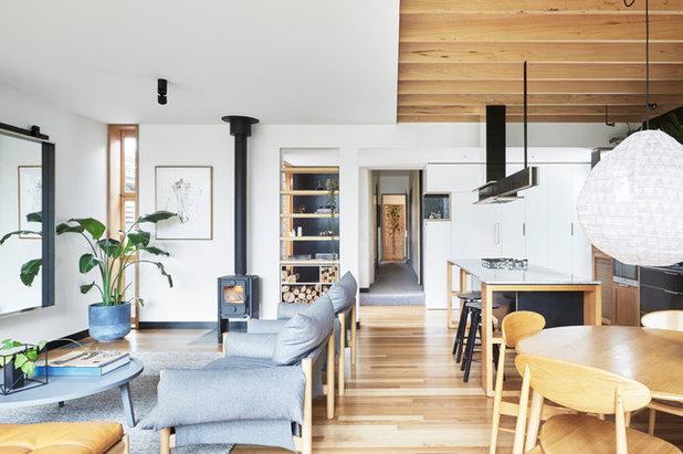 コンテンポラリー リビング by Moloney Architects