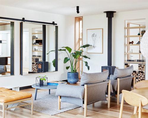 kleine wohnzimmer mit kaminofen ideen design bilder beispiele. Black Bedroom Furniture Sets. Home Design Ideas