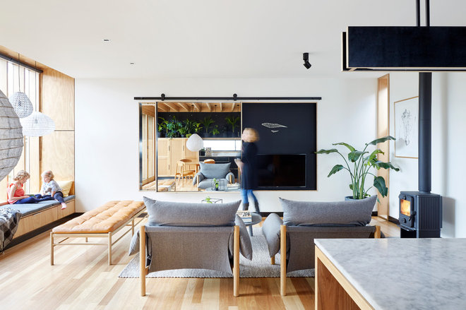 Contemporary Living Room by Moloney Architects