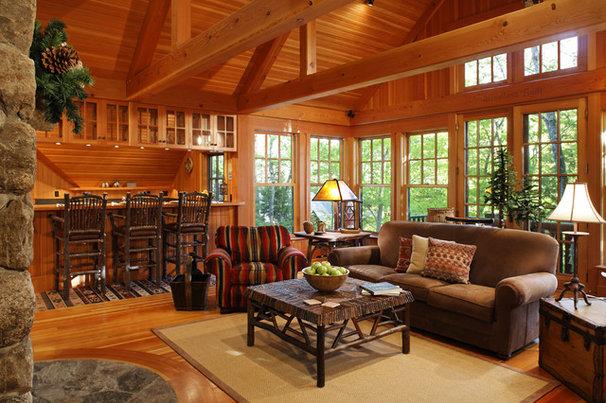 Rustic Living Room by Carl Vernlund