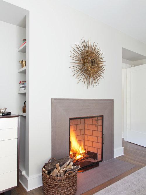 Mitered Fireplace Surround Houzz