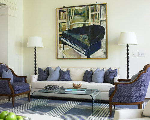 Navy living room home design ideas pictures remodel and for Navy blue and cream living room ideas