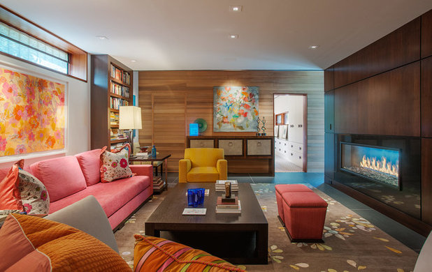 Contemporary Living Room by Kevin Weber Photography