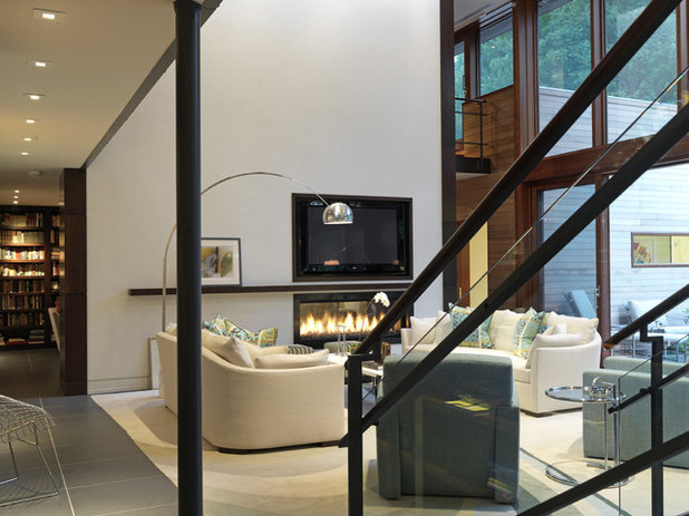 Contemporary Living Room by Ziger|Snead Architects