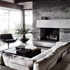 Contemporary Living Room by Gaile Guevara