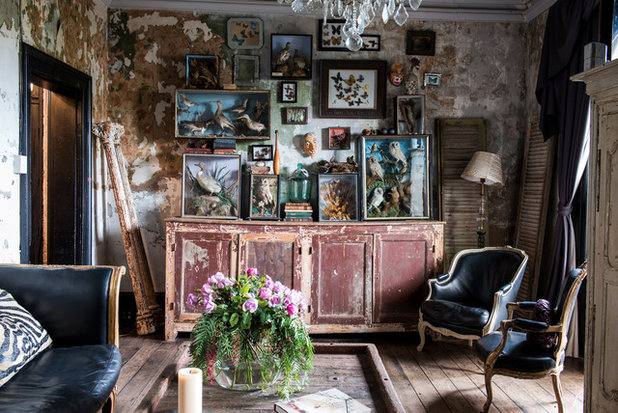 Eclectic Living Room by Ryan Linnegar Photography