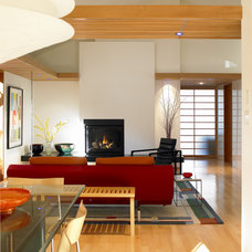 Modern Living Room by Works Photography Inc.