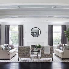 Transitional Living Room by Brooke Wagner Design