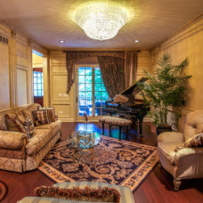 Traditional Living Room by Derrick Architecture
