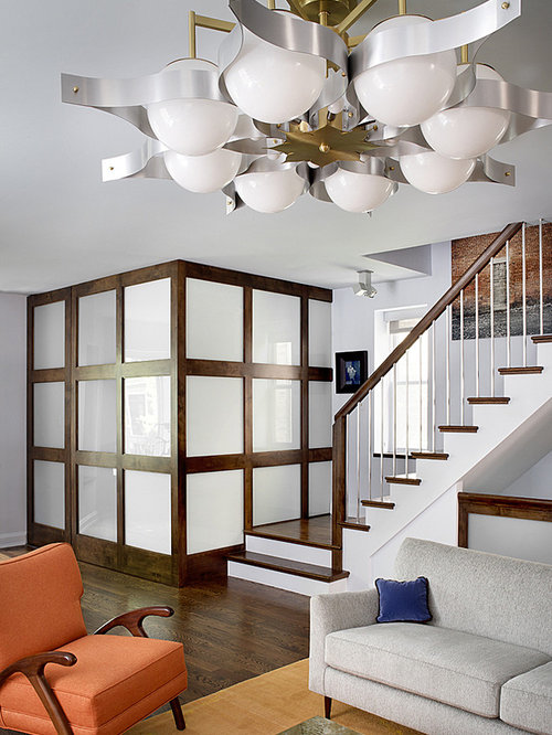 Wood and glass partition houzz - Wooden glass partition design ...