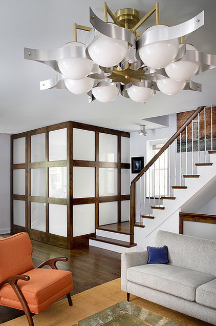 Midcentury Living Room by Alan Design Studio