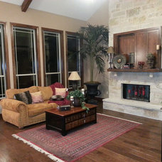 Traditional Living Room by WTL Construction LLC