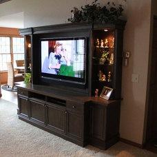 Traditional Living Room by Designtech Custom Interiors