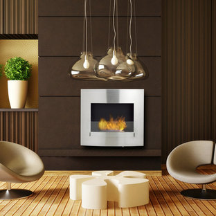 Wynn Stainless Steel Wall Mounted Ethanol Fireplace
