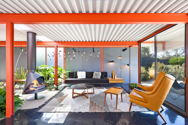 Midcentury Living Room by Sabrina Huang Photography + Video Production