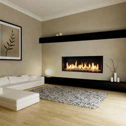 Xtreme Contemporay Fire Features - Xtreme fire feature illuminates your living space with standard overhead lighting and the option of radiant, adjustable lighting shining through either platinum, bronze or cobalt blue glass