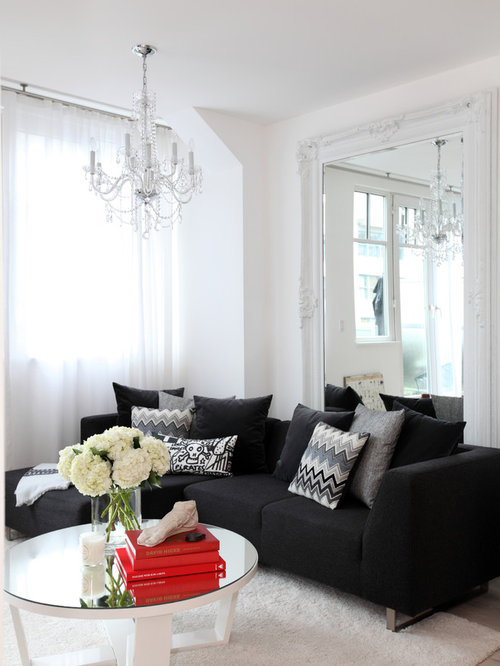 black couch home design ideas pictures remodel and decor