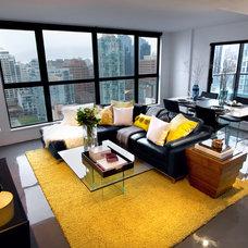 Contemporary Living Room by Treoma Design