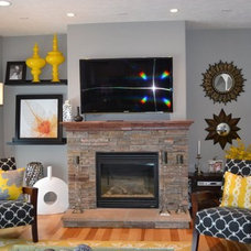 Contemporary Living Room by Fluff Interior Design