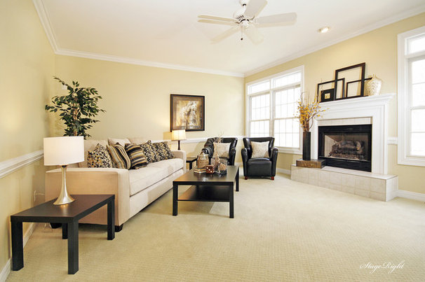 Traditional Living Room by StageRight Home Staging