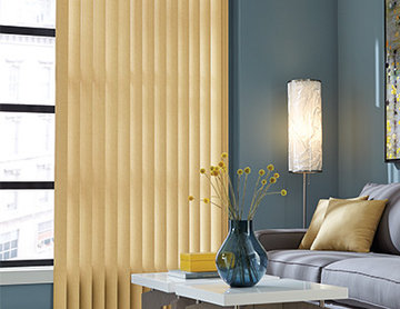 YELLOW VINYL VERTICAL BLINDS - Graber Living Room Ideas