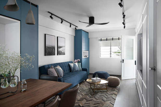Contemporary Living Room by SYNC INTERIOR PTE. LTD.