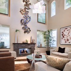 contemporary living room by International Custom Designs