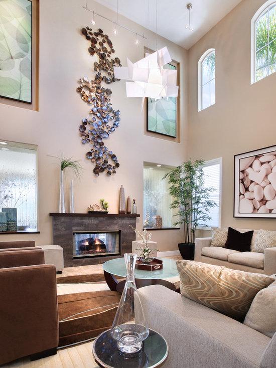 Art Above Fireplace Houzz
