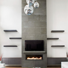 Contemporary Living Room by Anthony Concrete Design