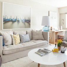 Contemporary Living Room by Kelly Deck Design