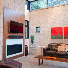 Modern Living Room by West Standard Design Build