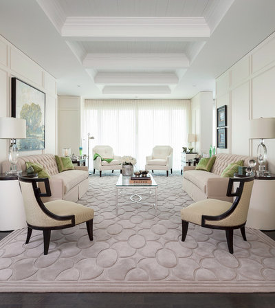 Transitional Living Room by Principles Design Studio, Inc.